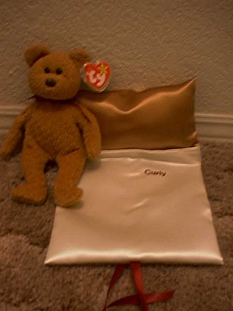 Here is Curly with his sleeping bag - Only $8.95  CURLY BEAR not included